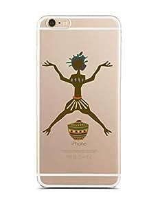 IPhone 6 Plus / 6 Plus S Transparent Silicone Case with Primitive Design