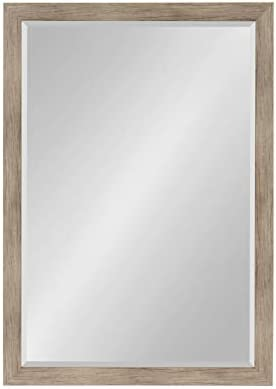 DesignOvation Beatrice Framed Wall Mirror، 27x39 Brown Rustic