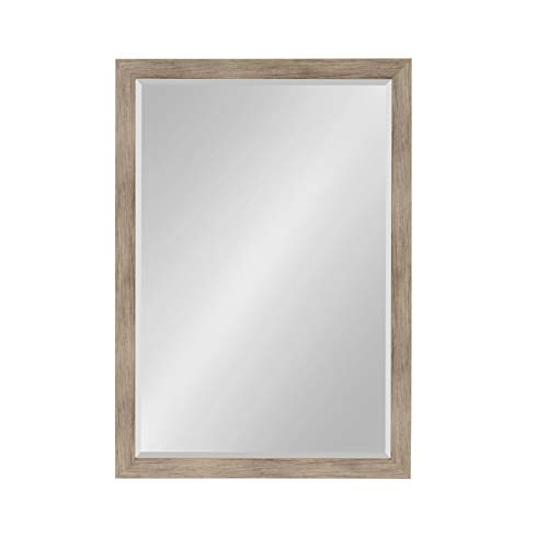 DesignOvation Beatrice Framed Wall Mirror, 27x39 Rustic -
