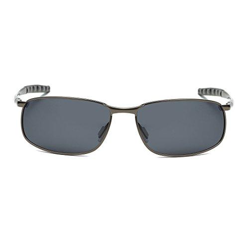 AEVOGUE Polarized Sunglasses For Men Rectangle Metal Frame Retro Sun Glasses AE0535