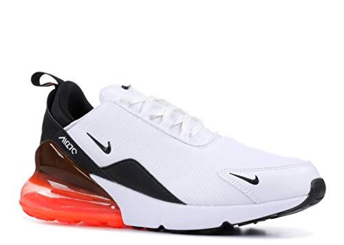 Nike Air Max 270 PRM Lea (White/Black-Hyper Crimson 10.5)