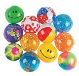 Fun Express Mini Inflatable Beach Balls - 5 Inches - 25 Piece Pack