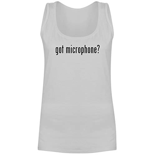 The Town Butler got Microphone? - A Soft & Comfortable Women's Tank Top, White, X-Large