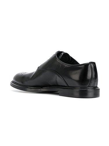 Dolce E Gabbana Homme A20063AI34580999 Noir Cuir Chaussures À Lacets