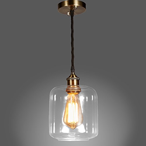 MonaLisa Gallery Industrial Glass Chandeliers Pendant Edison Light Fixture SML-663 W6.5xH12G