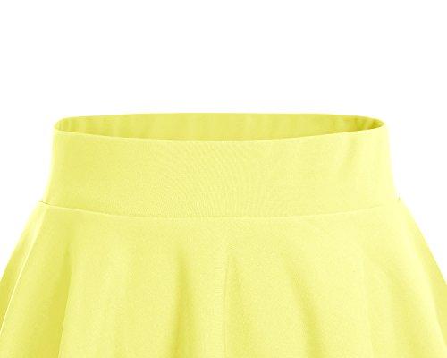 en Polyester Jupe Dresstells vase Mini Courte Jaune vxdXvq8Iaw