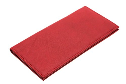 Paul & Taylor Red Leather Checkbook Cover Bifold Wallet