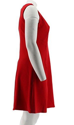 Dress Caviar Rouge Dennis Crepe A291575 Knit Basso Red Seam F44PqZa