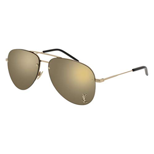 Saint Laurent CLASSIC 11 M Sunglasses 004 Gold / Bronze Mirror Lens 59 mm