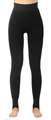 Cuff Leggings (iLoveSIA Women's Thick Faux Fur Lined Thermal Legging One Size Fit XS To XL)