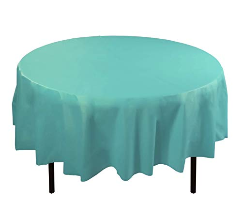 tic Tablecloth 84in. Round Table Cover - Light Blue ()