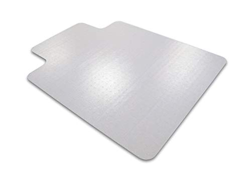 Cleartex Ultimat Chair Mat, Clear Polycarbonate, for Plush Pile Carpets Over 1/2