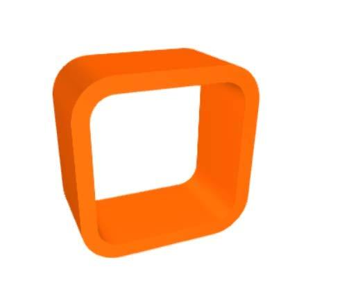 orange Gloss Zespoke Cube Aquarium Stand orange Gloss