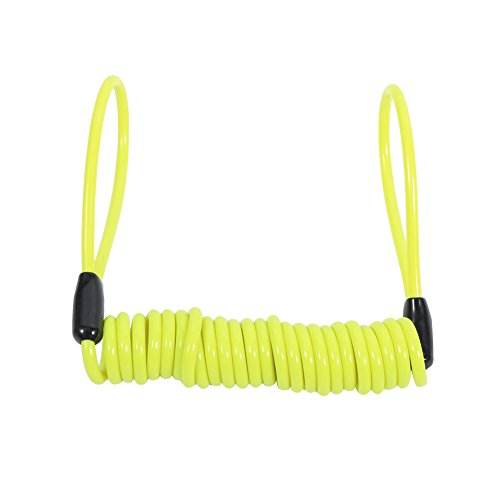 - Anauto Motorcycle Bike Alarm Disc Lock Antitheft Security Spring Reminder Coil Cable(Yellow)