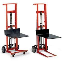 (Wesco 260022 Steel Frame 4 Wheeled Winch Pedalift, 750-lb. Capacity, 54