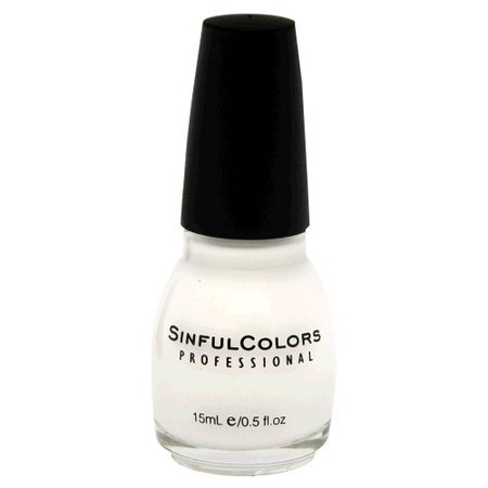 Sinful Colors Professional Nail Polish Enamel 101 Snow Me White (Pack of 3)