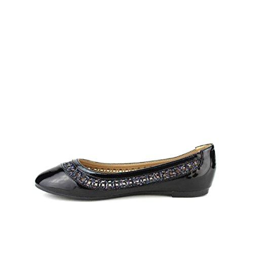 Cendriyon Noire Chaussures Ballerine Villia Vernie Femme Noir SrR7wSq