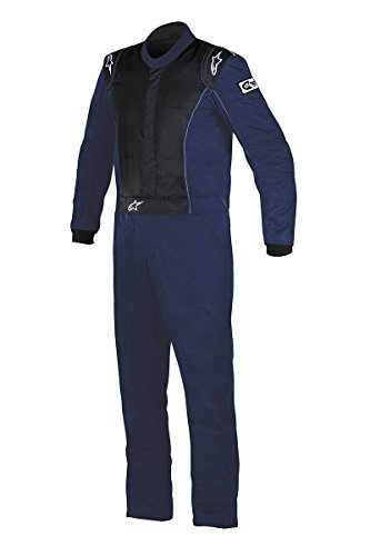 Alpinestars 3355916-7100-54 Knoxville Suit, Navy Blue, Size 54, SFI 3.2A Level 5/FIA 8856-2000, 2-Layer, Boot-Cut by Alpinestars
