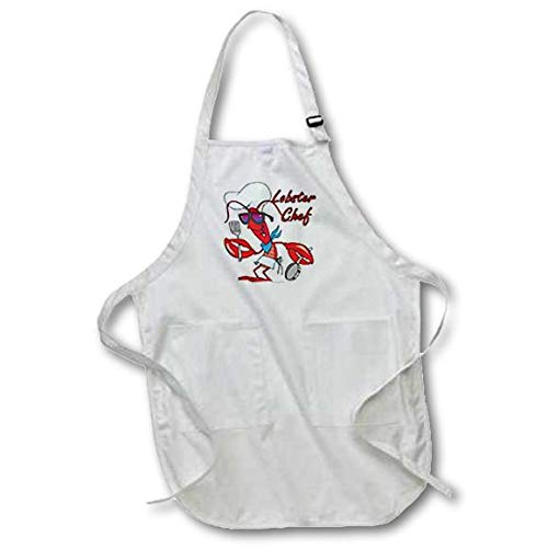 3dRose apr_103928_1 Cute Lobster Chef Full Length Apron, 22 by 30