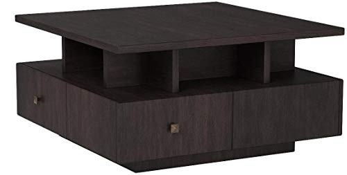 Furniture of America Murry Square Wooden Coffee Table in Espresso