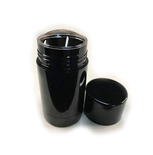 Empty Deodorant Containers - Twist-up, Reusable, Recyclable, DIY Empty  Deodorant Tubes, Bottom-fill 2 0 Oz (black) (4-Pack)