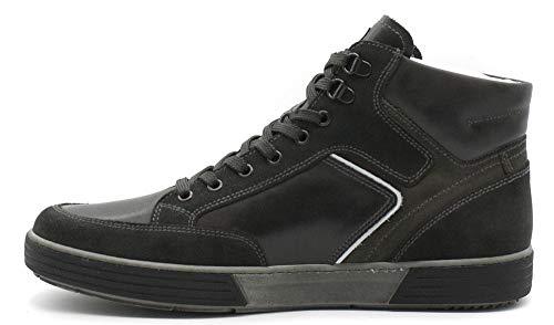 Uomo Grigio Pelle Antracite Sportive Antracite NeroGiardini Grigio 137 Sneaker 0611 Mid Scarpe in A800611 w0BgBqRF