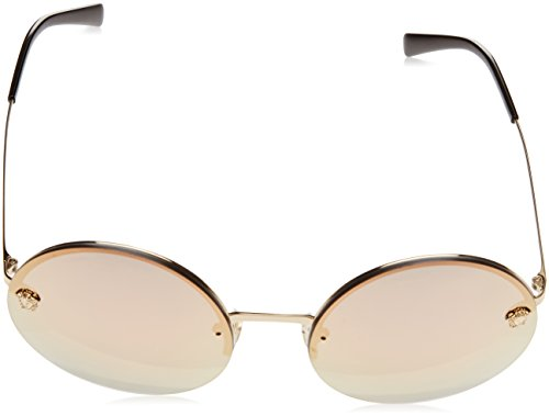 Versace Women's VE2176 Pale Gold/Grey Mirror Rose Gold Sunglasses by Versace (Image #2)