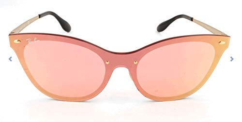 Ray-Ban Women's Steel Woman Non-Polarized Iridium Cateye Sunglasses, Orange, 43 mm (Ray-ban Cat-eye Wayfarer)