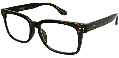 Edge I-Wear 80's Horned Rim Frame Reading Glasses for Men/Women +2.25 540695-+2.25-4 Tortoise Readers