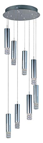 Polished Chrome 8 Light 15.75In. Wide Pendant from The Bangle Collection ()