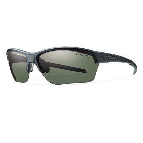 Smith Optics Approach Max Sunglasses, Matte Black Frame, Polar Gray Green Carbonic TLT - Tlt Optics