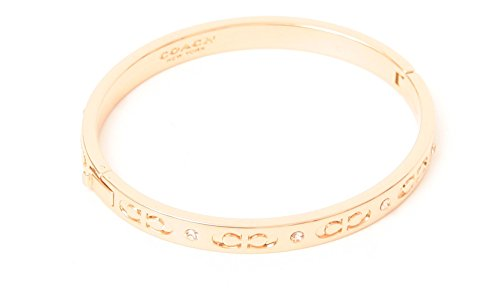 COACH KISSING C HINGED BANGLE - ROSE GOLD ()
