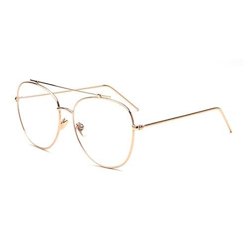 dking-fashion-aviator-metal-eye-glasses-frame-clear-lens-eyeglasses-gold