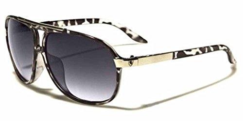 [Mens Womens Retro Vintage 80s Classic Fashion Designer Aviator Sunglasses Black-Gray] (80s Male Fashion)