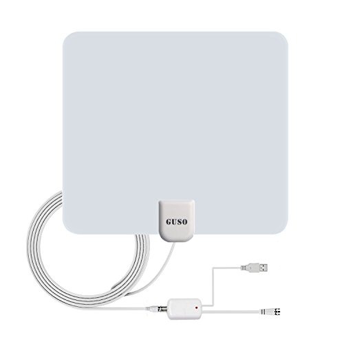 Discover Bargain TV Antenna, GUSO indoor HDTV antenna 50 Miles Long Range with Detachable amplifier ...
