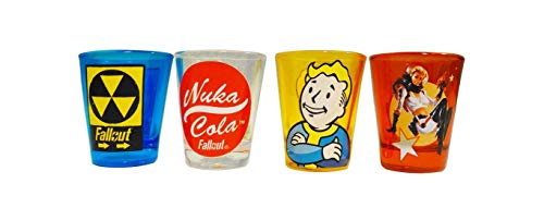 JUST FUNKY Set of Four Officially Licensed Fallout Shot Glasses