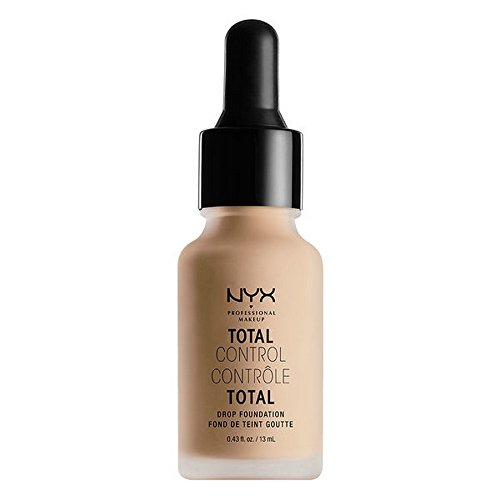 NYX PROFESSIONAL MAKEUP Total Control Drop Foundation, Natural, 0.43 Fluid Ounce by NYX