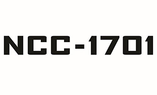 (Cove Signs 143 Star Trek - NCC-1701 Die Cut Premium Vinyl Decal - Black 4