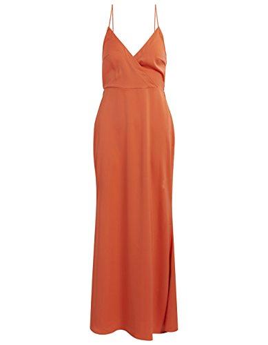 Vestido Vila Vioccasion Maxi Dress Coral Rojo