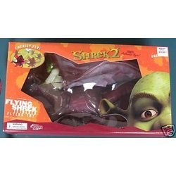 Flying Shrek and Dragon Action Figures Tethered by Prannoi