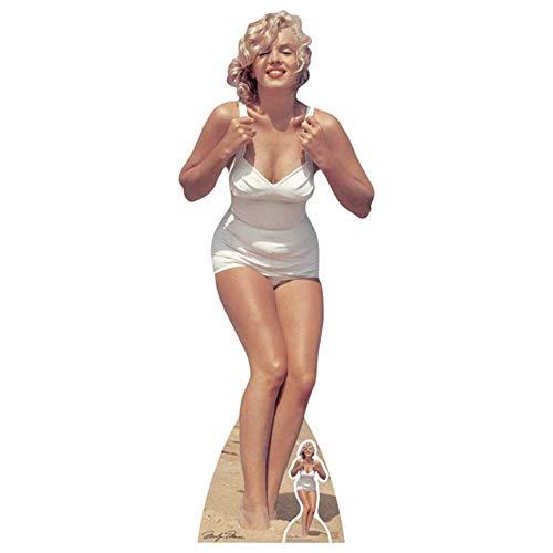 Marilyn Monroe White Swimsuit Life Size Cardboard Cutout Standup SC1228