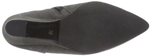 Mentor Mentor Ankle Wedge - botas de cuero mujer gris - Grau (Grey Suede)