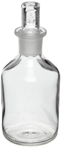 Corning Pyrexplus 61500-500 500ml Narrow Mouth Cylindrical Reagent Storage Bottle with Standard Taper Stopper