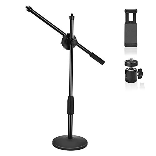 Copy Camera - UTEBIT Copy Stand for Phone Heavy Duty with 1/4 360° Rotation Ball Head and Phone Clamp Metal Base Overhead Photo Desktop Monopod Copying Stands with 3/8'' Screw for Camera Photography Shooting