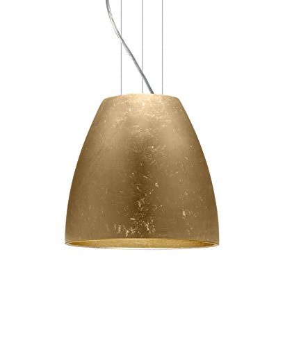 Besa Bella 14 Cable Pendant with Gold Foil (Gold Belle Lighting)