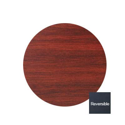 Royal Industries ROY RTT BM 3636 T Square Reversible Black & Mahogany Wood Grain Table Top, 36 x 36''
