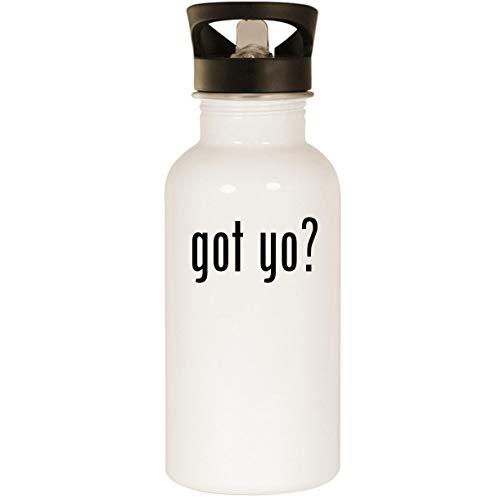 got yo? - Stainless Steel 20oz Road Ready Water Bottle, White]()