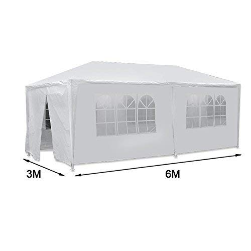 HomGarden Outdoor Gazebo Patio White Canopy Tent Camping Gazebo Storage Shelter Pavilion Cater for Party Wedding Events BBQ w/Removable Sidewalls (10' x 20')