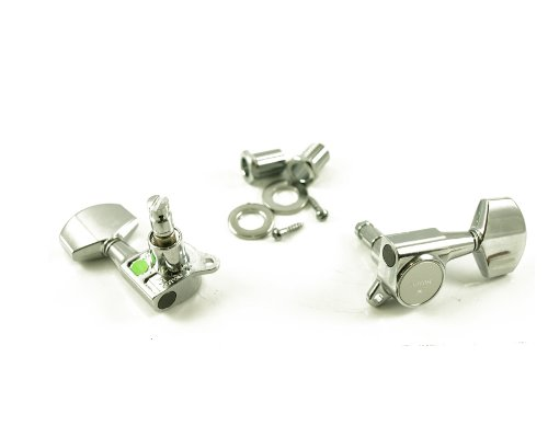 Gotoh MLC3-G 3-On-A-Side Locking Tuners 6-Pack Chrome ()