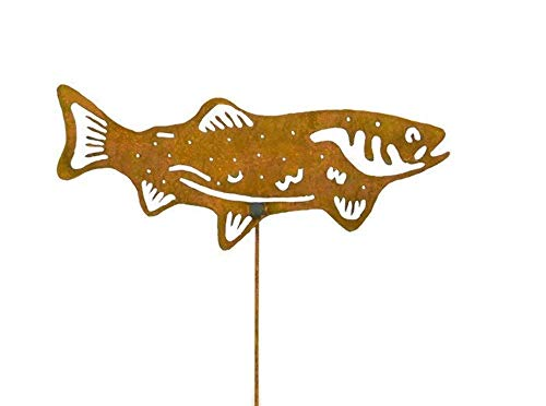 Salmon Decorative Metal Garden Stake, Lawn/Yard Art